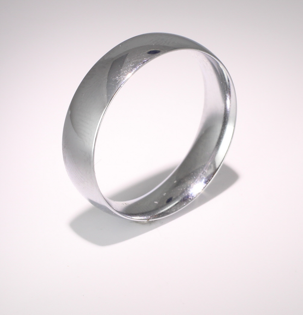 Court Medium - 6mm (TCSM6PAL) Palladium Wedding Ring