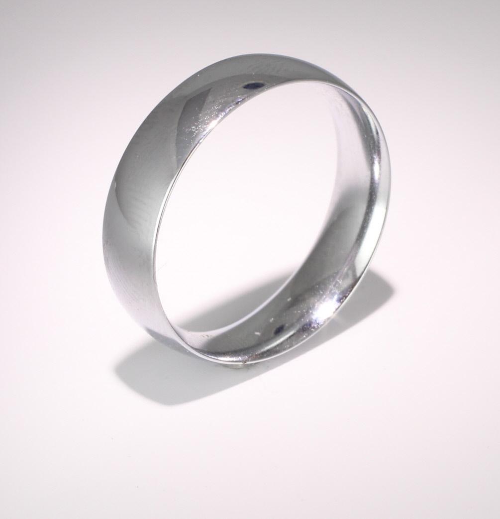 Court Medium - 7mm  (TCSM7PAL) Palladium Wedding Ring