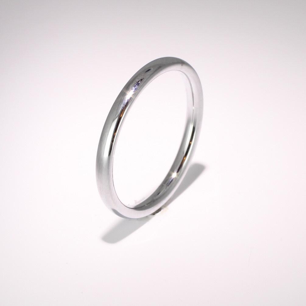 Court Medium -  2mm (TCSM2P) Platinum Wedding Ring