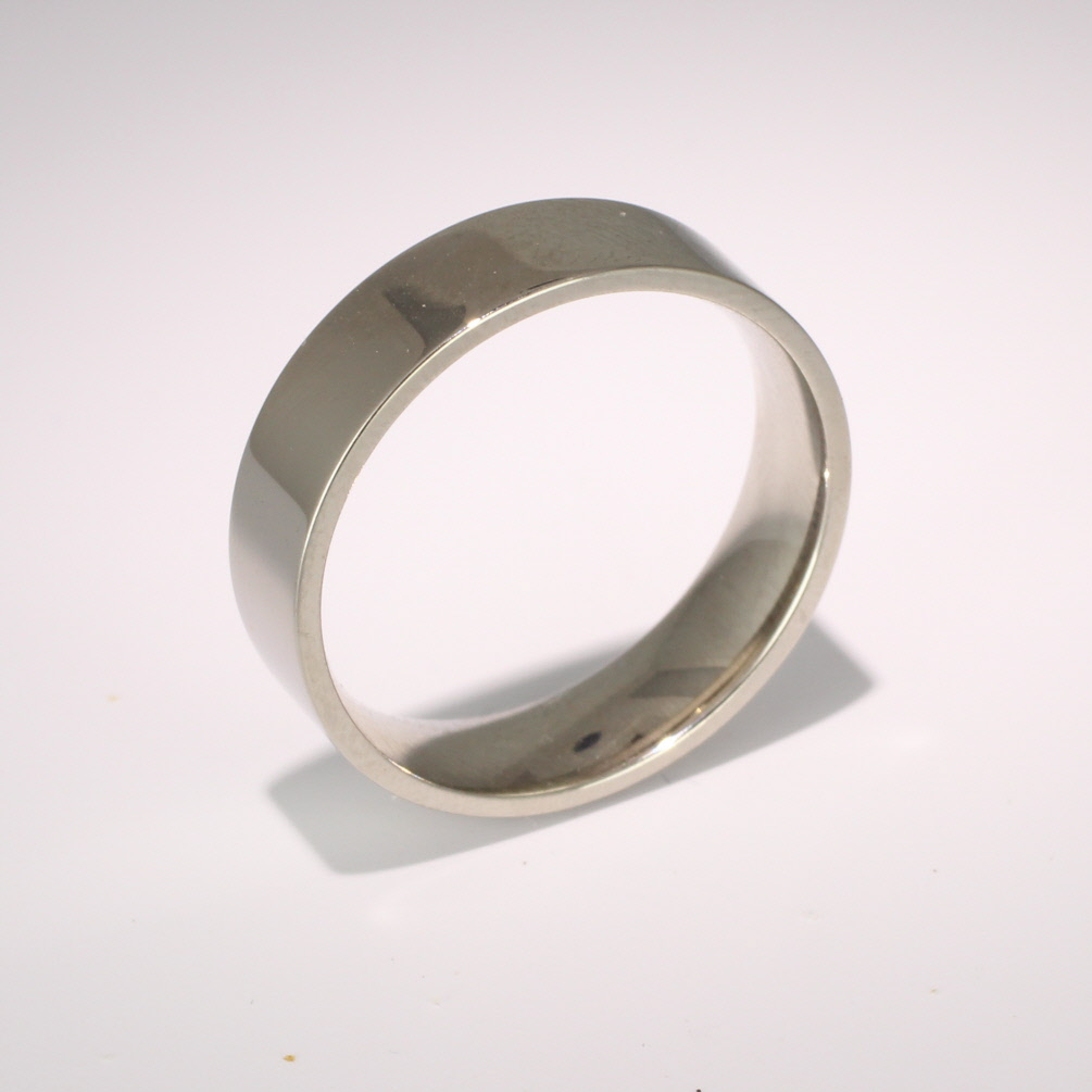 Flat Court Medium - 6mm (FCSM6PAL) Palladium Wedding Ring
