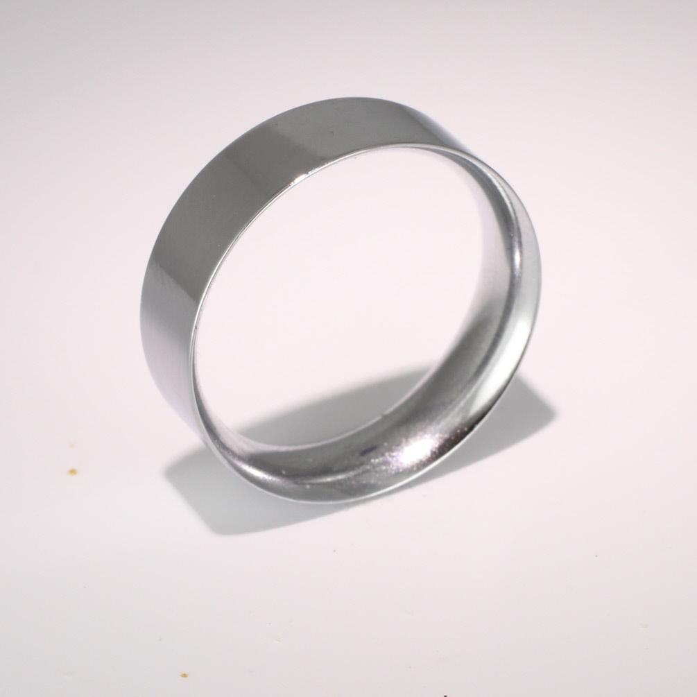 Flat Court Medium -  7mm Platinum Wedding Ring (Plat or Pall)