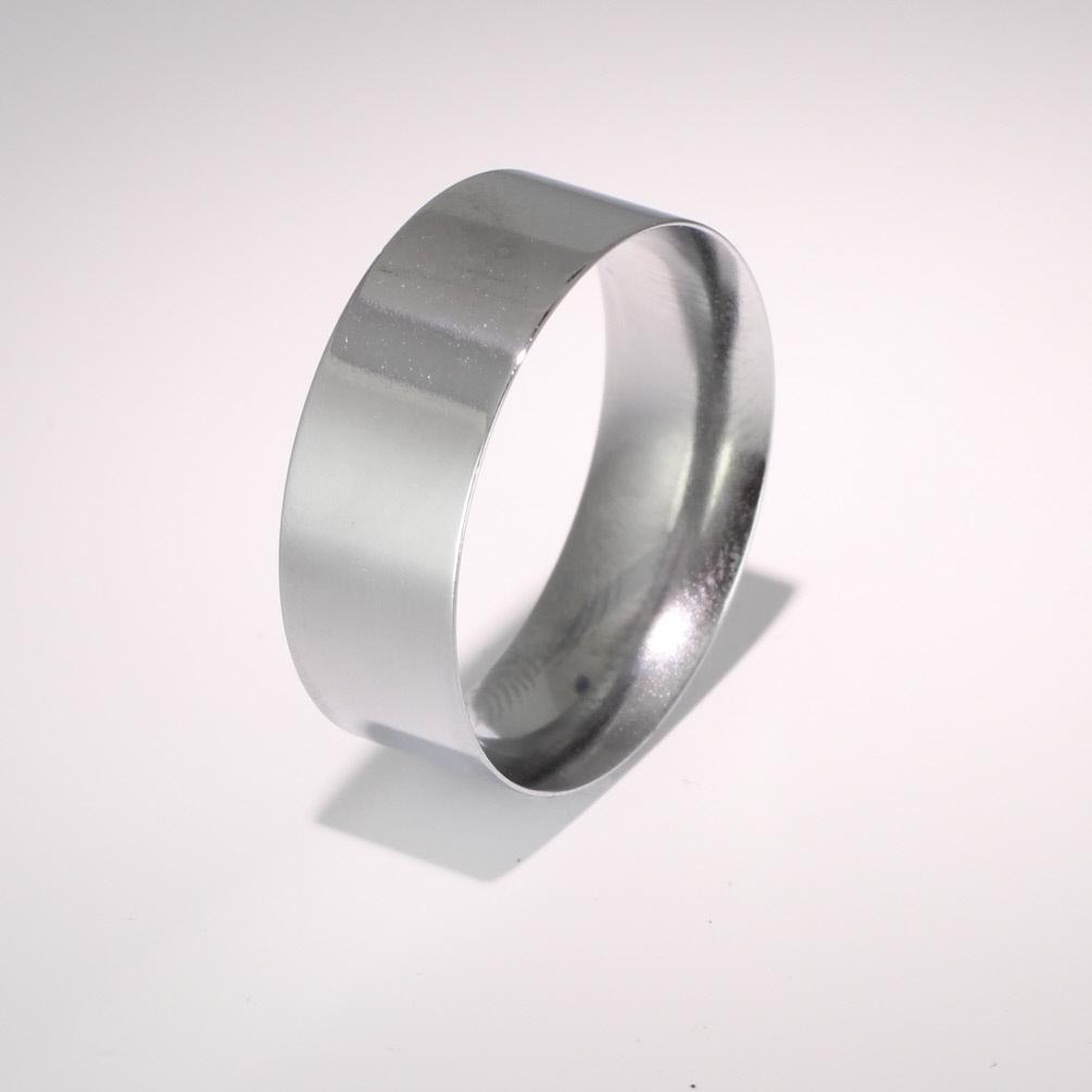 Flat Court Light -  8mm (FCSL8) 18ct White Gold Wedding Ring