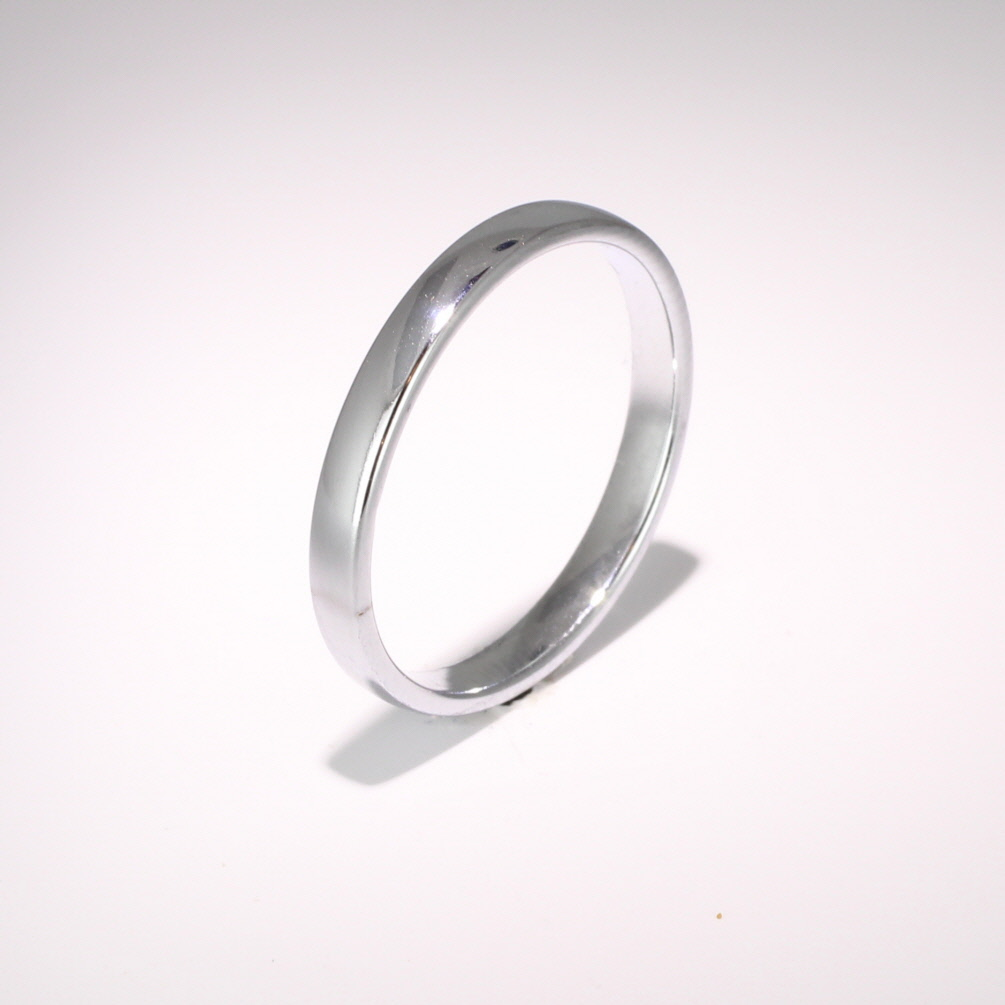 Slight or Soft Court Light -  2.5mm (SCSL2.5P) Platinum Wedding Ring