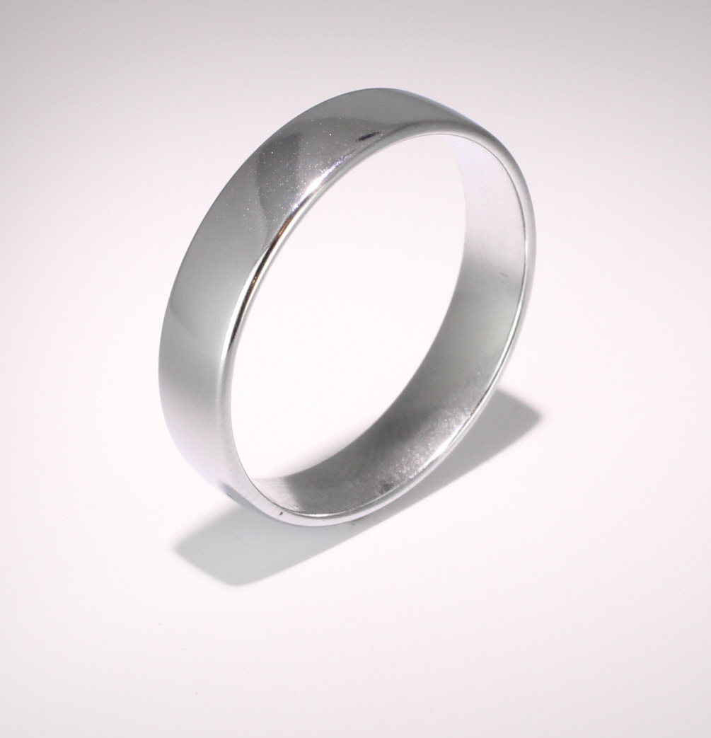 Slight or Soft Court Light -  5mm (SCSL5P) Platinum Wedding Ring
