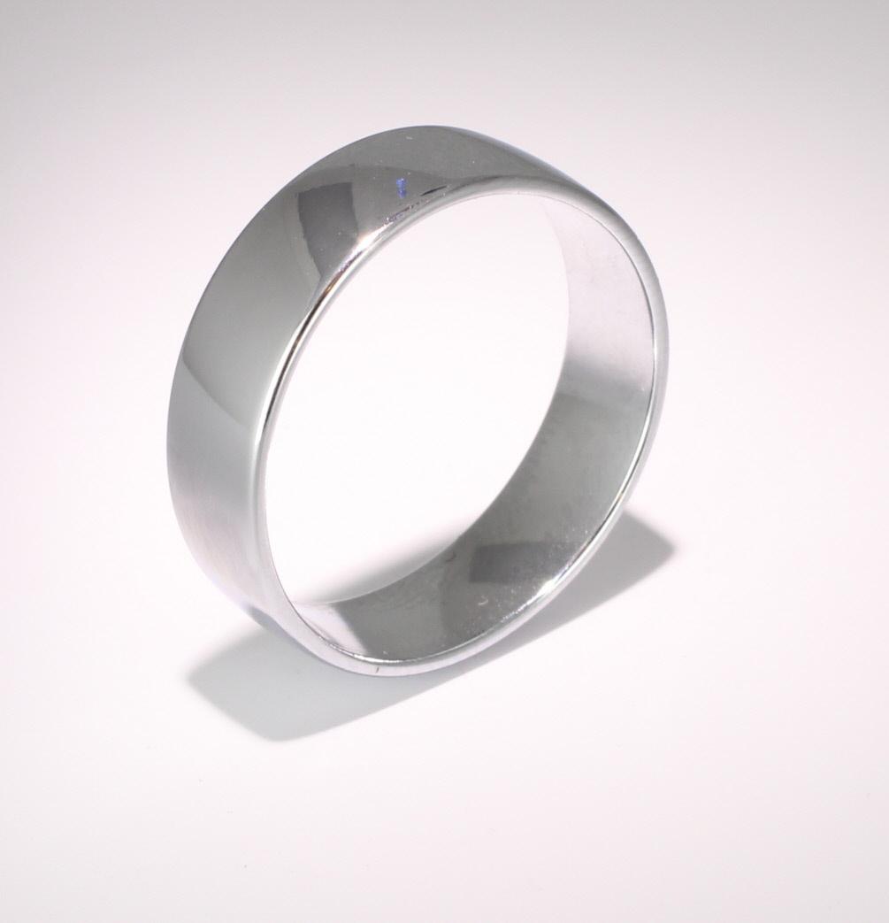 Slight or Soft Court Light -  6mm Platinum Wedding Ring (Plat or Pall)
