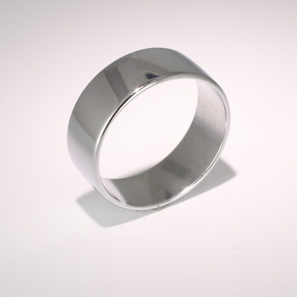 Slight or Soft Court Light -  8mm Platinum Wedding Ring (Plat or Pall)