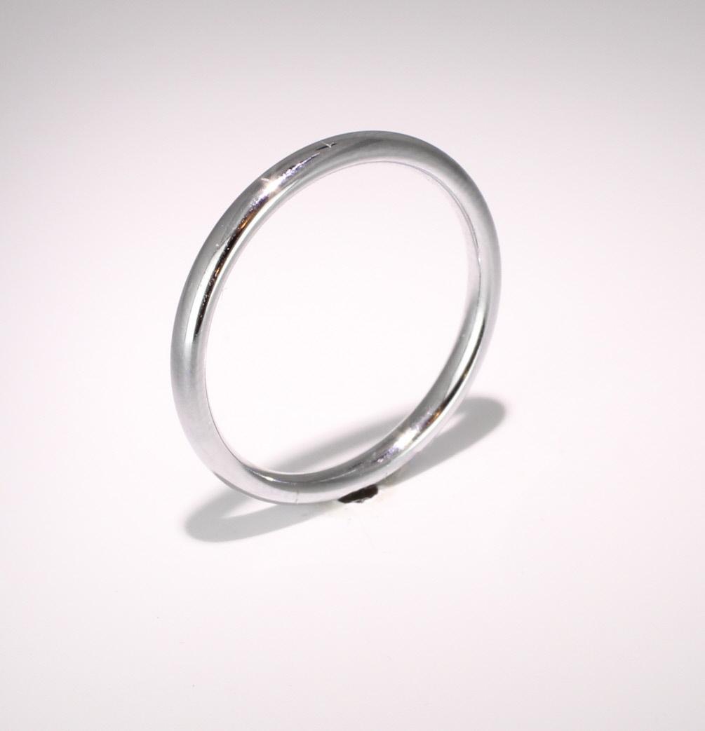 Slight or Soft Court Medium -   2mm (SCSM2P) Platinum Wedding Ring