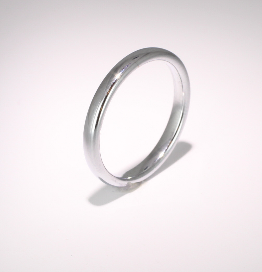 Slight or Soft Court Medium -  2.5mm (SCSM2.5P) Platinum Wedding Ring