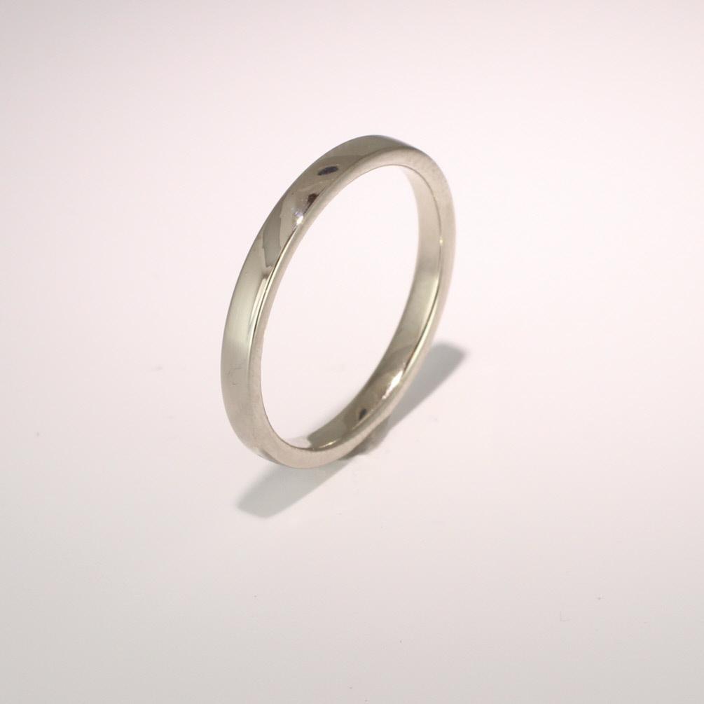 Slight or Soft Court Light - 2.5mm (SCSL2.5PAL) Palladium Wedding Ring