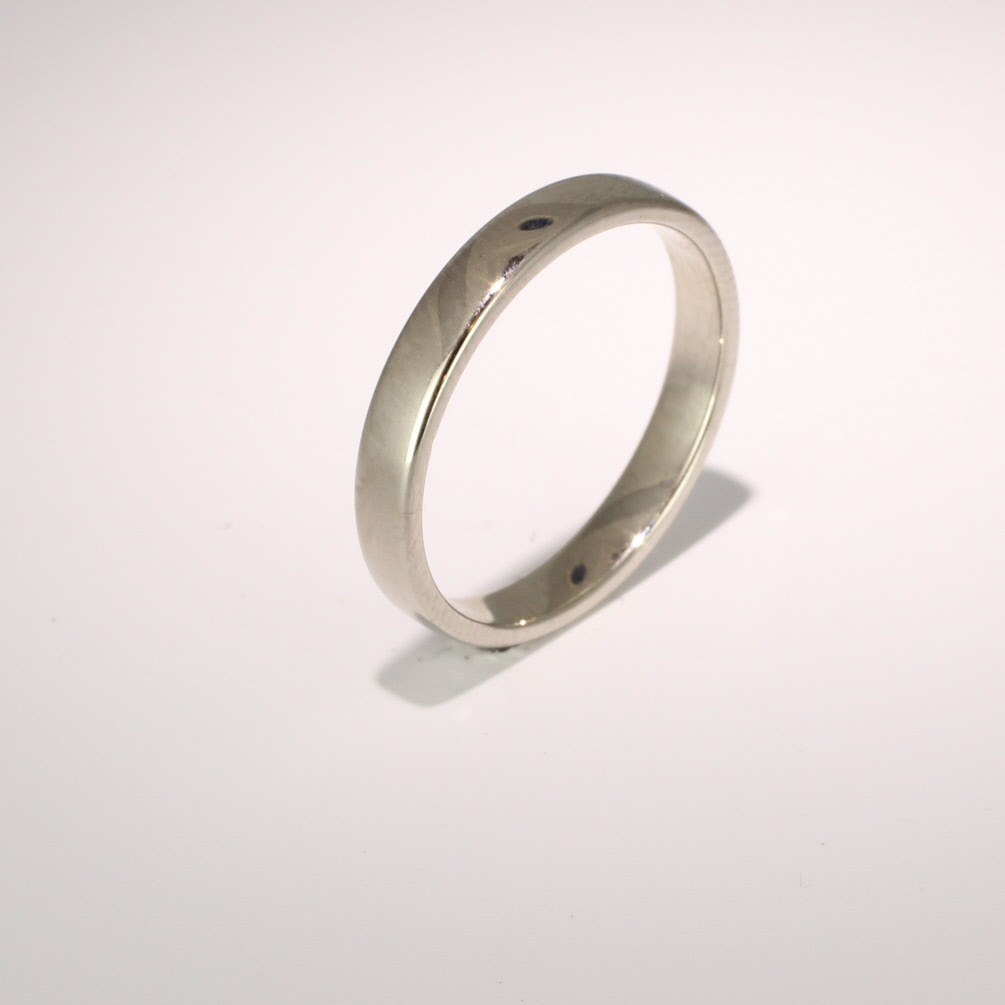 Slight or Soft Court Light - 3mm (SCSL3PAL) Palladium Wedding Ring