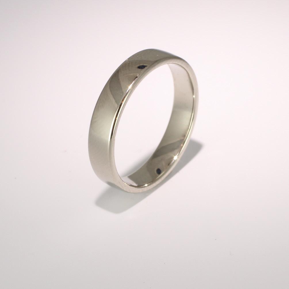Slight or Soft Court Light - 4mm (SCSL4PAL) Palladium Wedding Ring