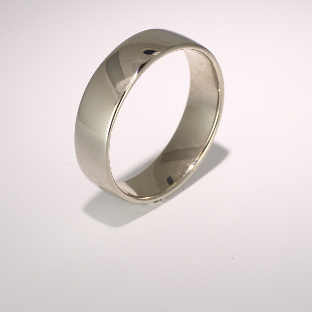 Slight or Soft Court Light - 6mm (SCSL6PAL) Palladium Wedding Ring