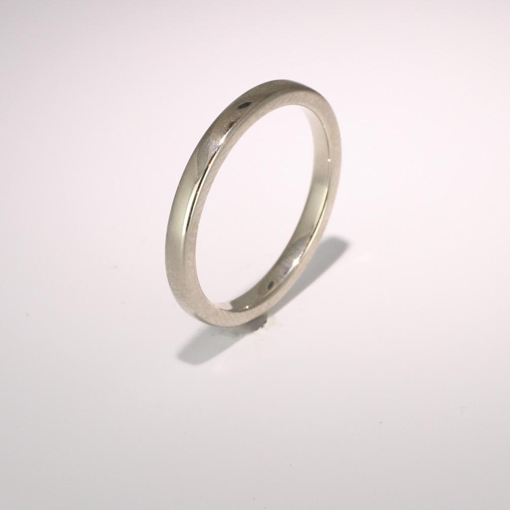 Soft Court Medium -  2mm (SCSM2) 18ct White Gold Wedding Ring