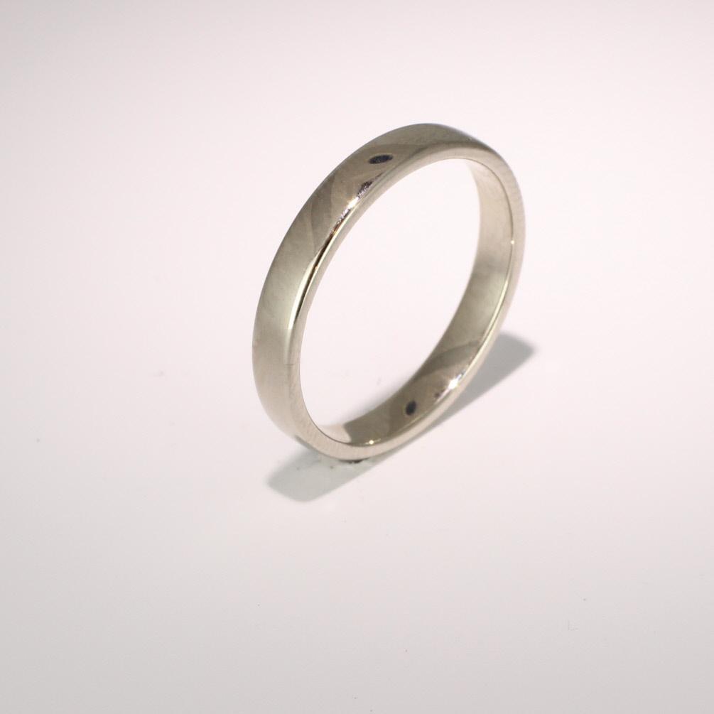 Soft Court Light - 3mm (SCSL3 W) White Gold Wedding Ring