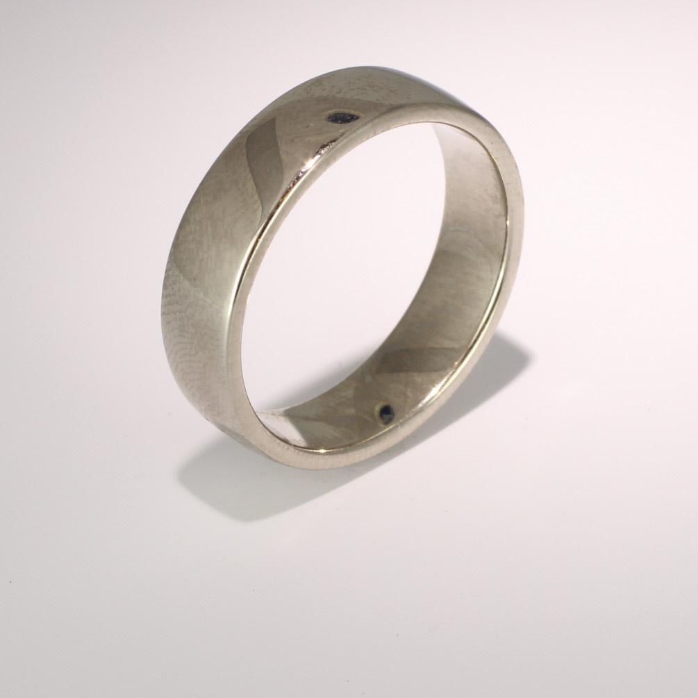 Soft Court Medium - 6mm (SCSM6 W) White Gold Wedding Ring