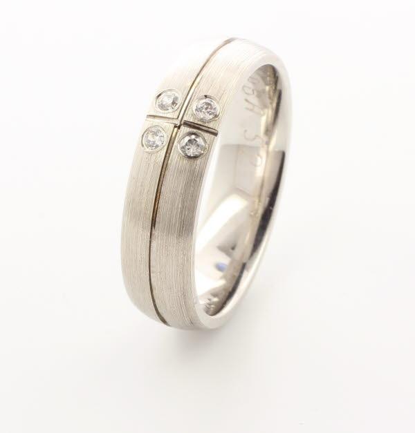 Special Designer Palladium Wedding Ring Solido