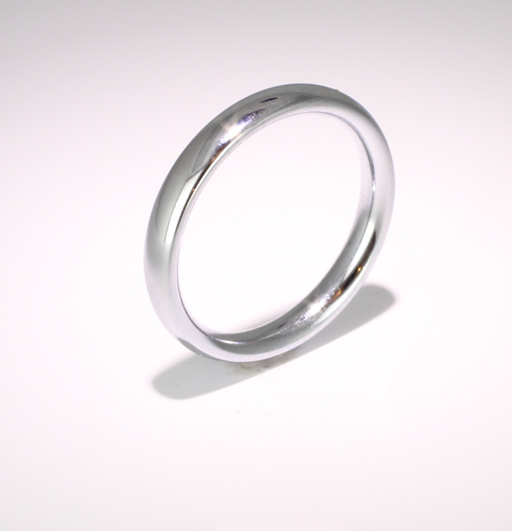 Traditional Court Heavy - 3mm (TCH3PAL) Palladium Wedding Ring