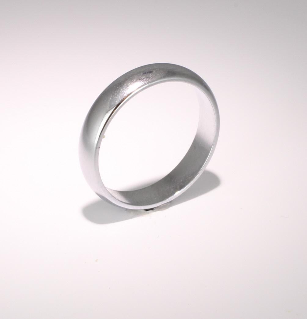 D Shape  Medium Weight -  4mm (DSM4PAL) Palladium Wedding Ring
