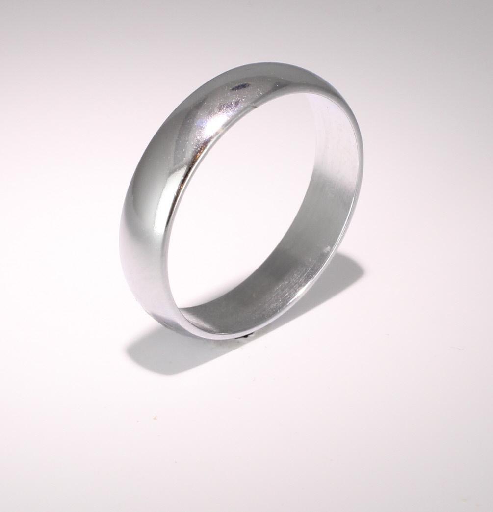 D Shape  Medium Weight -  5mm (WBDS5PAL) Palladium Wedding Ring