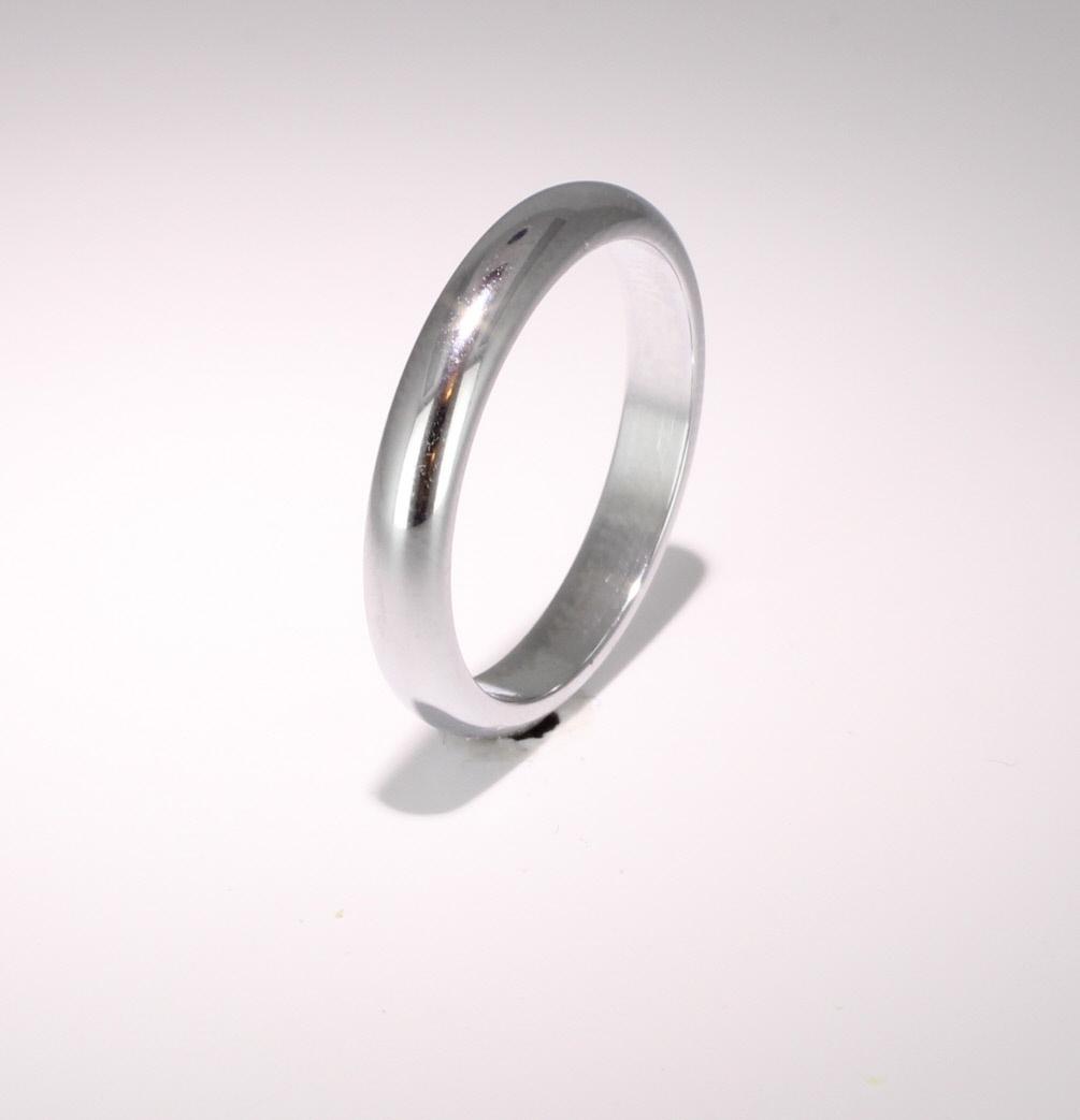 D Shaped Heavy Weight -  3mm (DSH3PAL) Palladium Wedding Ring