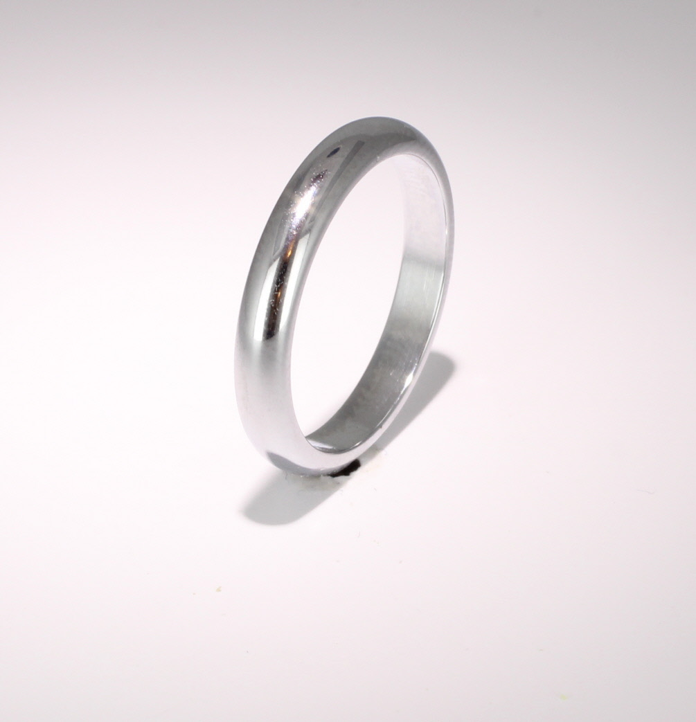 D Shaped Heavy Weight -  4mm (WBDS4HPAL) Palladium Wedding Ring