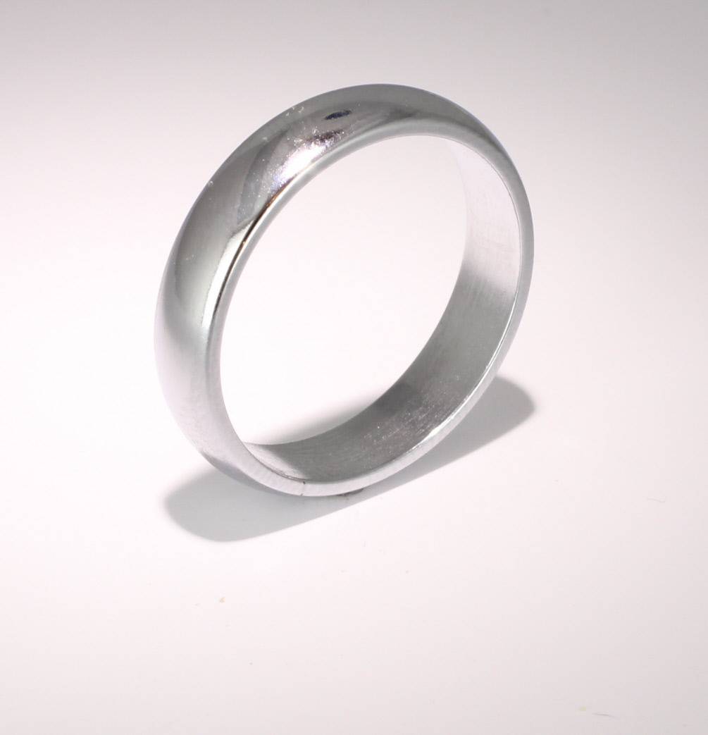D Shaped Heavy Weight -  5mm (WBDS5HPAL) Palladium Wedding Ring