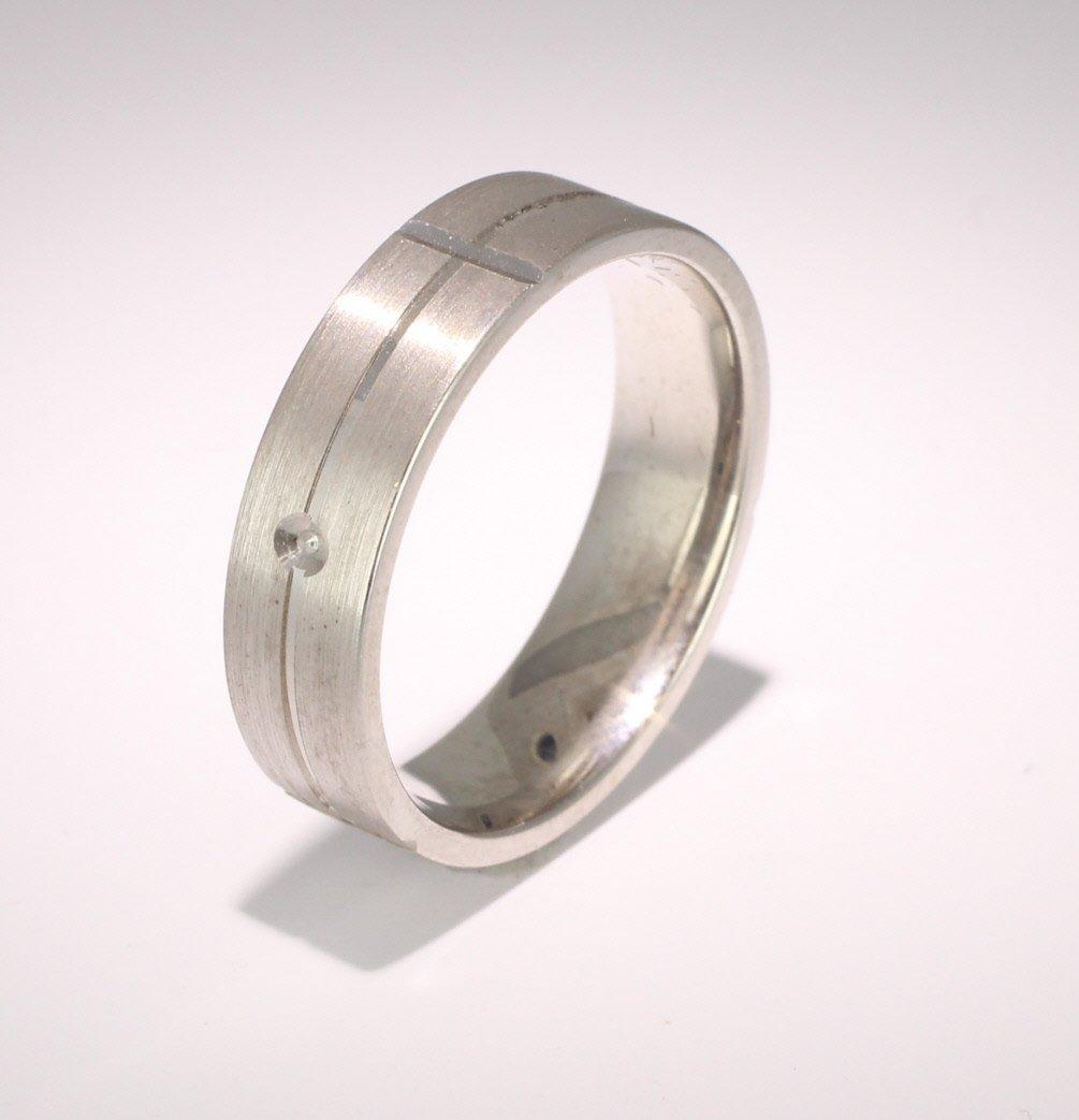 Special Designer Palladium Wedding Ring Carino