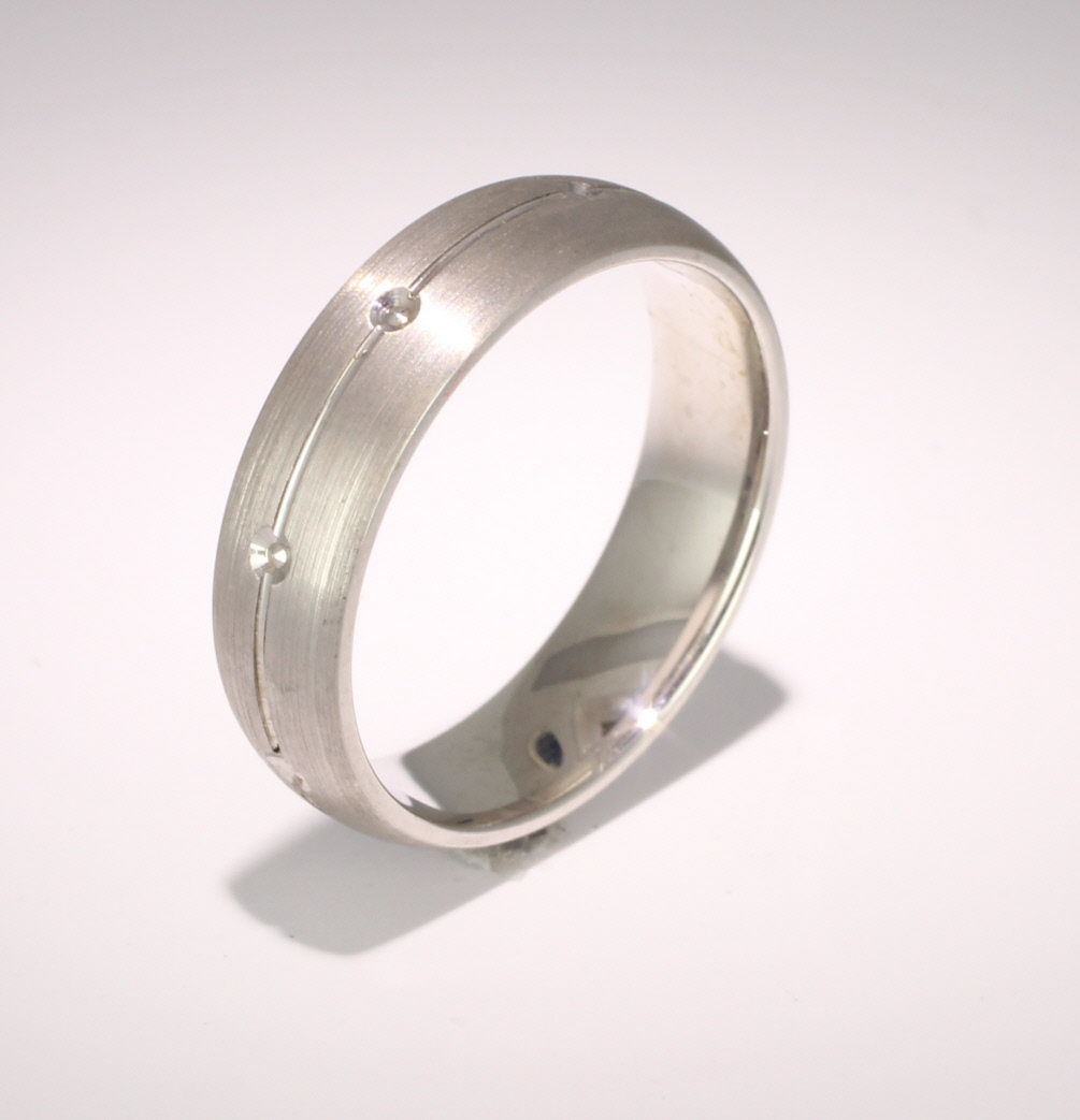 Beso D Shape Width 3 to 6mm Palladium Wedding Ring