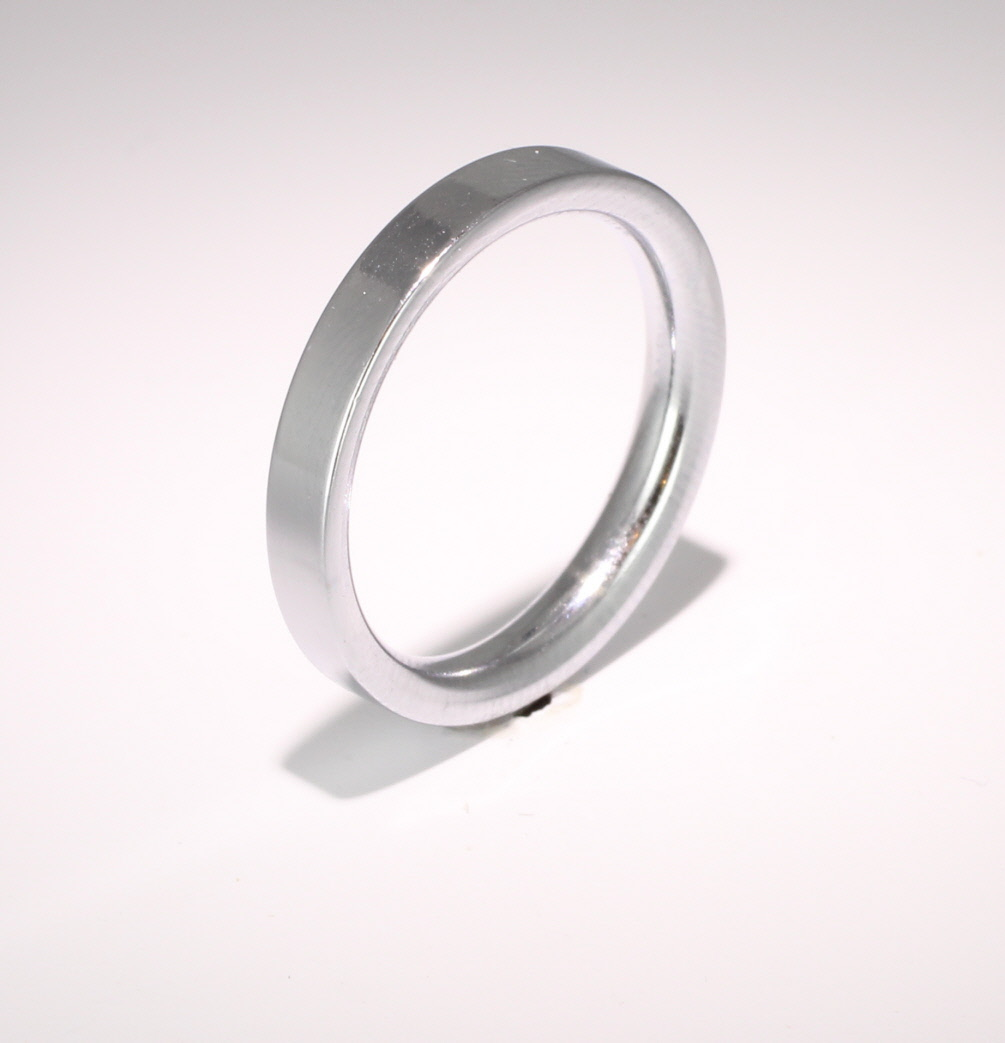 Flat Court Very Heavy -  3mm Platinum Wedding Ring (Plat or Pall)