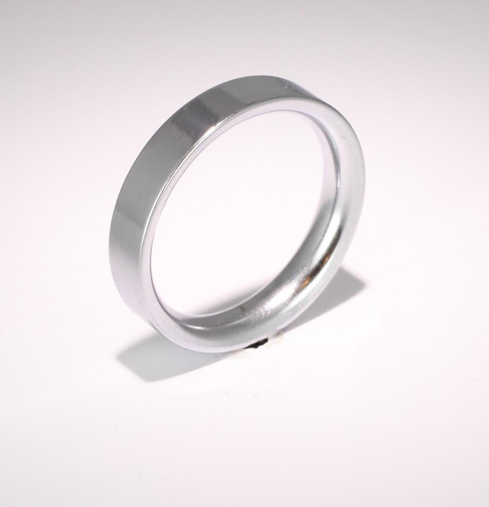 Flat Court Very Heavy -  4mm (FCH4P) Platinum Wedding Ring