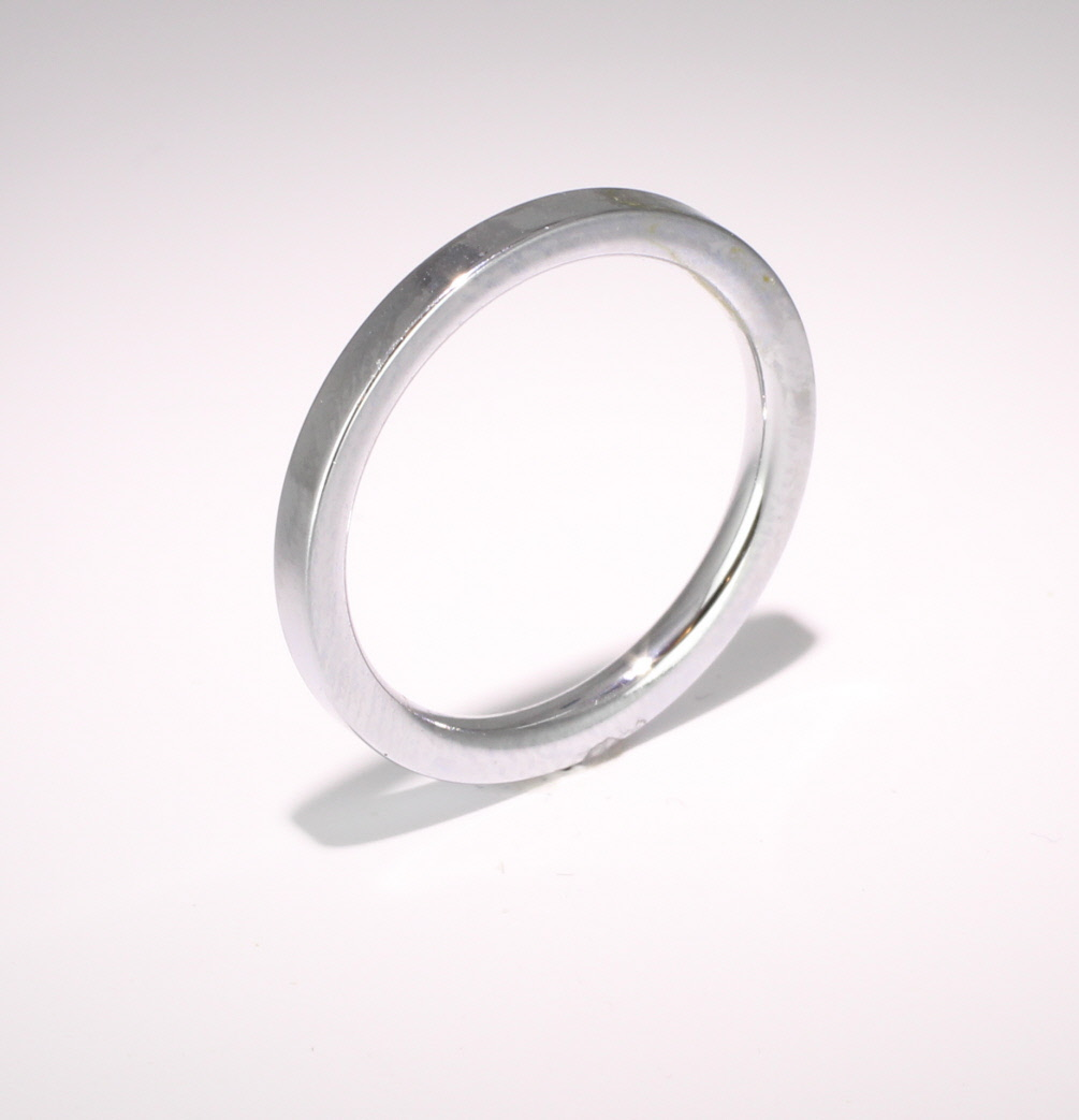 Flat Court Very Heavy -  2.0mm Platinum Wedding Ring (Plat or Pall)