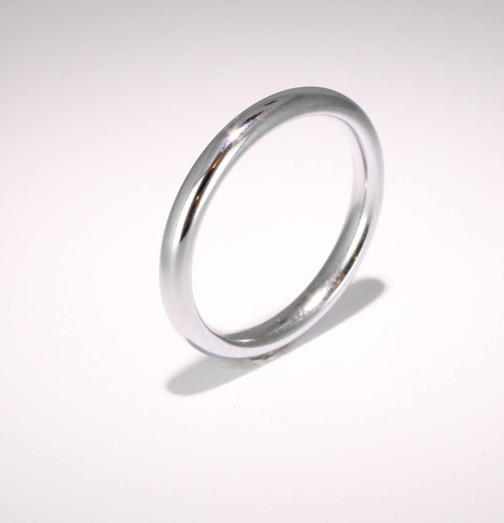 Slight or Soft Court Very Heavy -  2.5mm Platinum Wedding Ring (Plat or Pall)