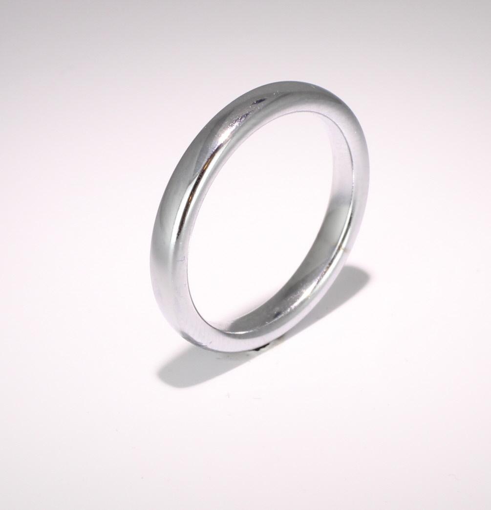 Slight or Soft Court Very Heavy -  3mm Platinum Wedding Ring