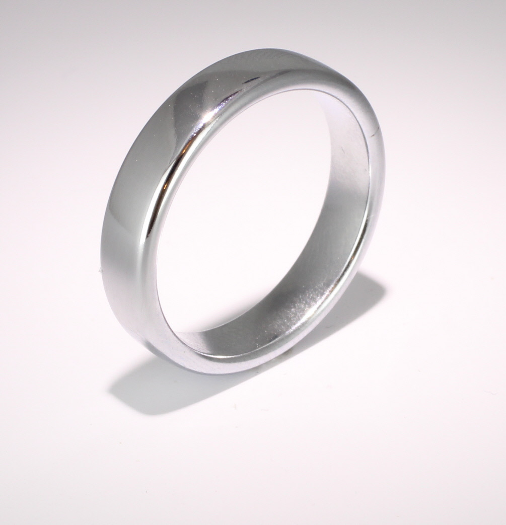 Slight or Soft Court Very Heavy -  5mm Platinum Wedding Ring (Plat or Pall)