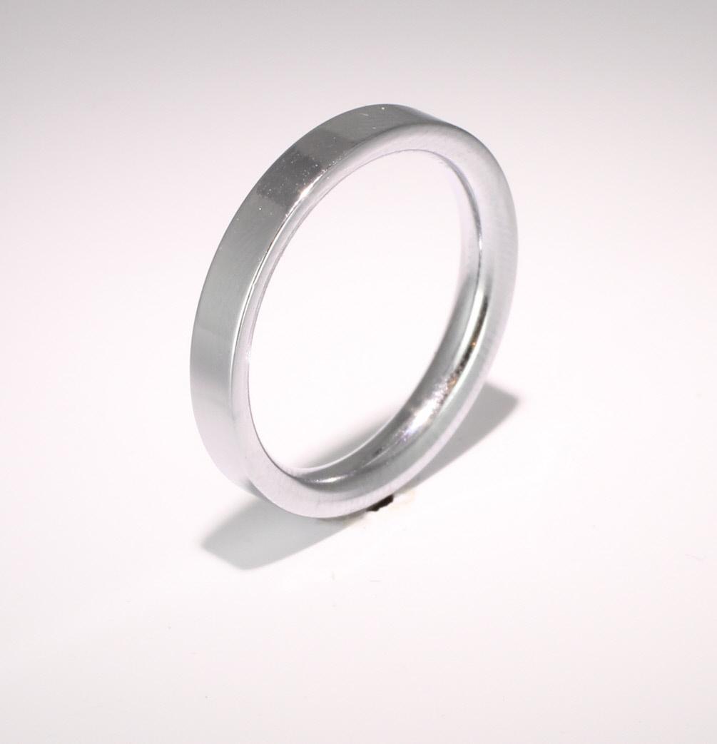 Flat Court Very Heavy - 3mm (FCH3PAL) Palladium Wedding Ring