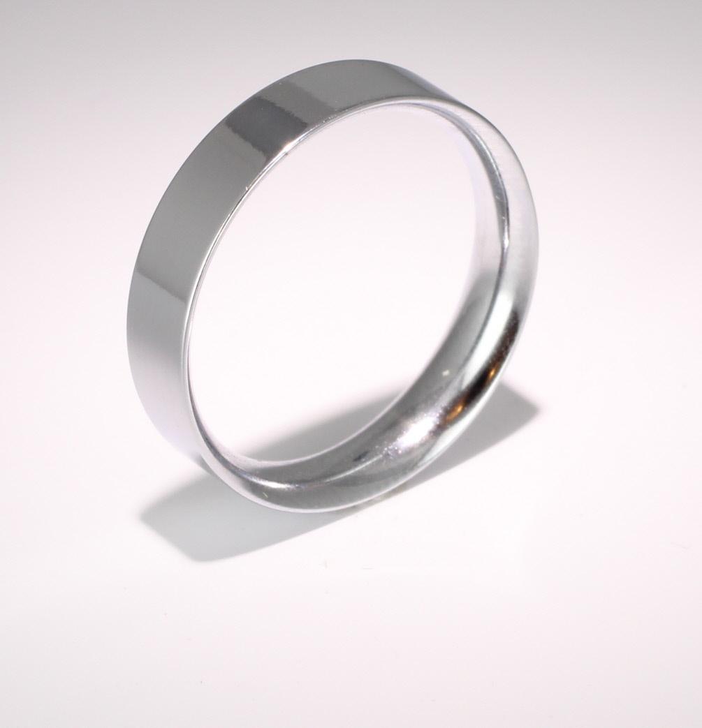 Flat Court Very Heavy - 5mm (FCH5PAL) Palladium Wedding Ring