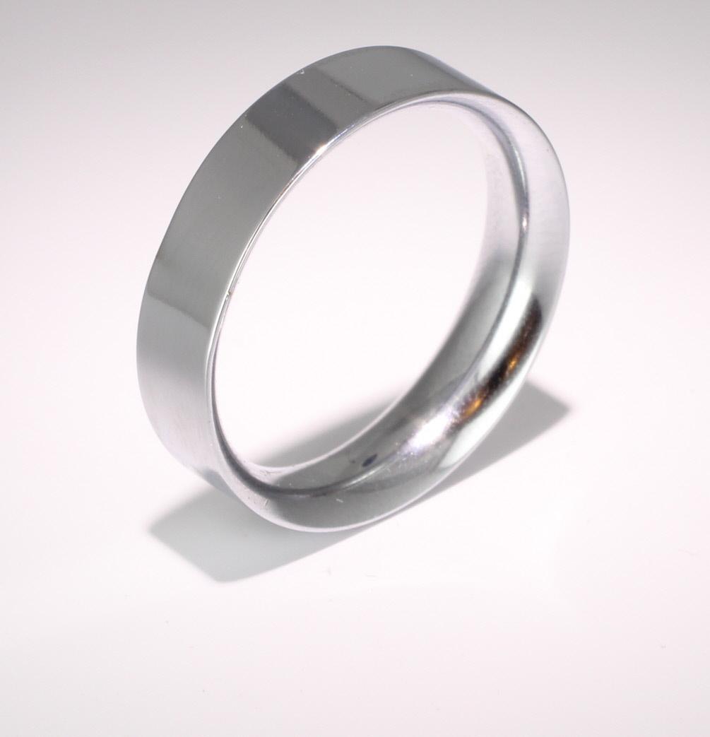 Flat Court Very Heavy - 6mm (FCH6PAL) Palladium Wedding Ring