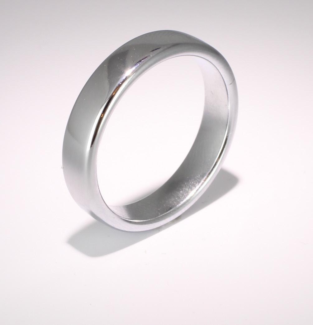 Slight or Soft Court Very Heavy - 5mm (SCH5PAL) Palladium Wedding Ring