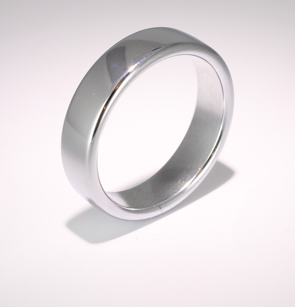 Slight or Soft Court Very Heavy - 6mm (SCH6PAL) Palladium Wedding Ring