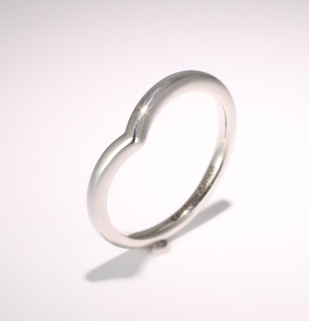 Shaped Wedding Ring Width 1.7mm (PR908) Platinum