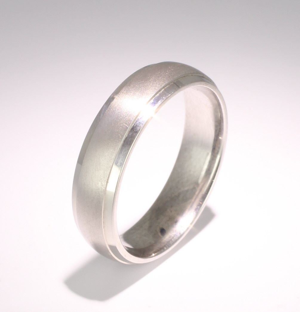 Patterned Designer Platinum Wedding Ring Cheri