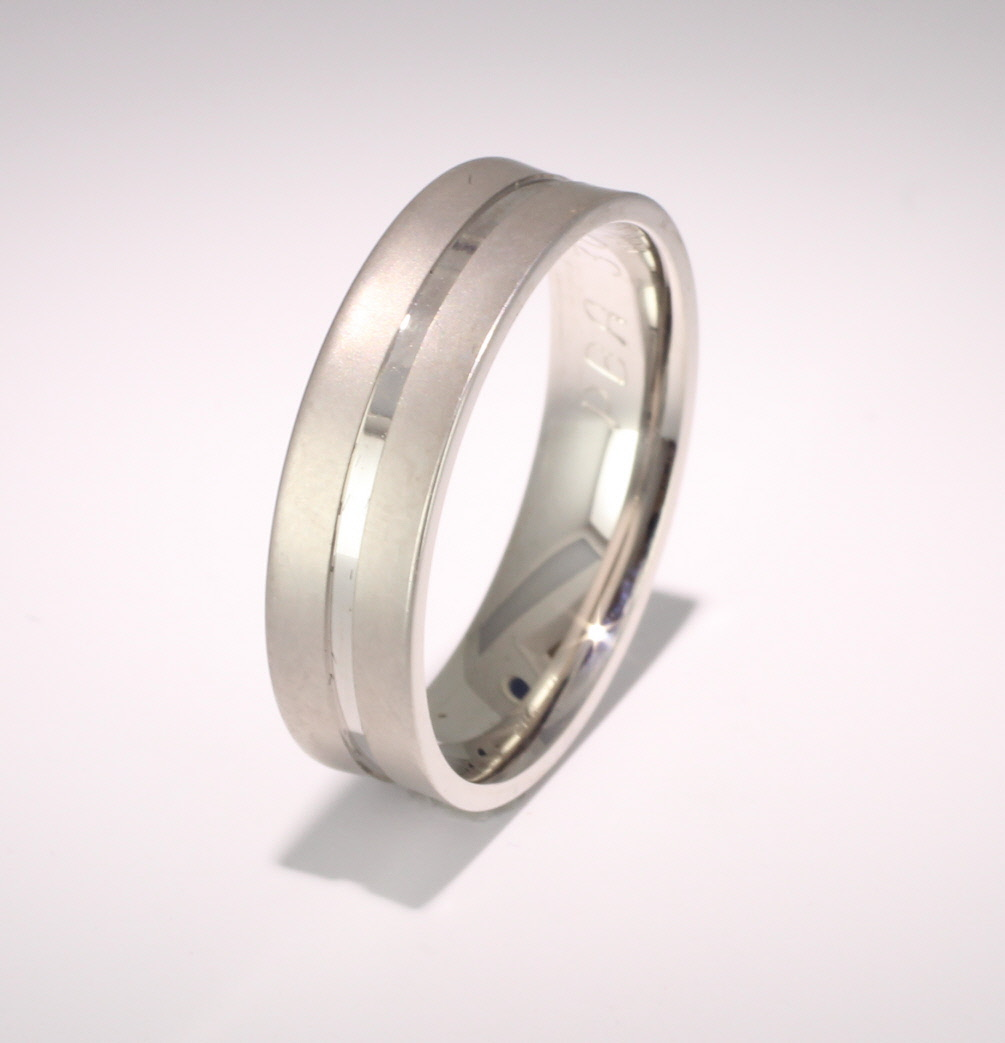Patterned Designer Platinum Wedding Ring Cara