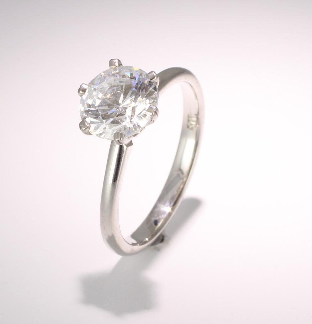 18ct White Gold GIA Diamond Engagement Ring
