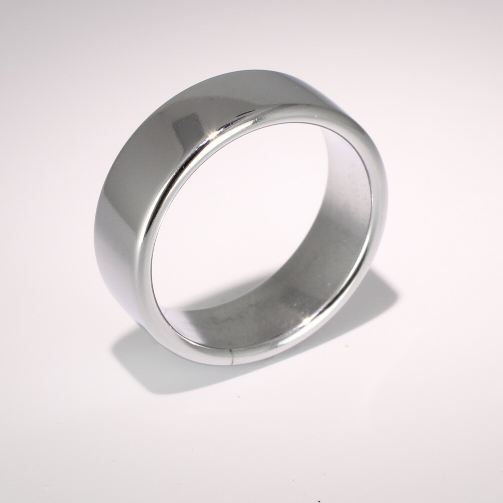 Slight or Soft Court Very Heavy - 8mm Platinum Wedding Ring (Plat or Pall)
