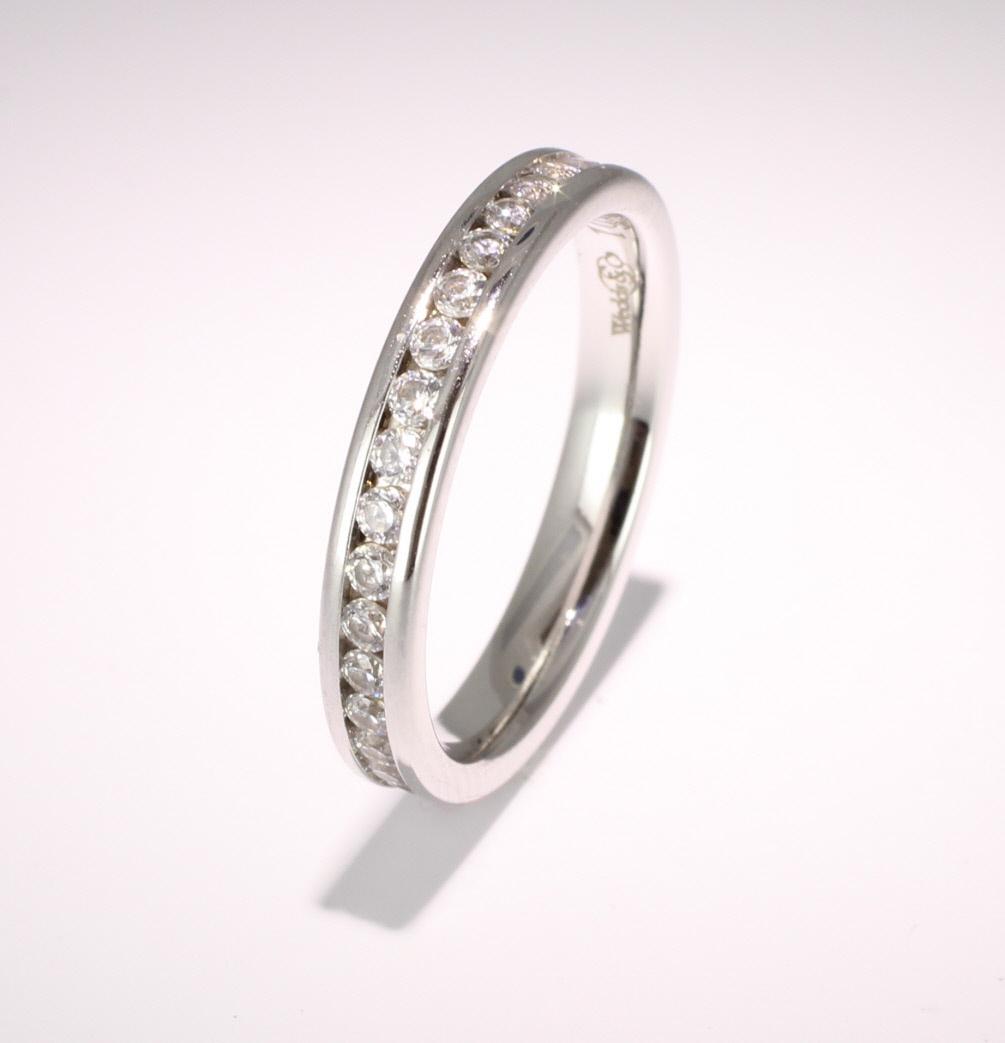 Platinum Full Eternity Brilliant  Diamond  Ring