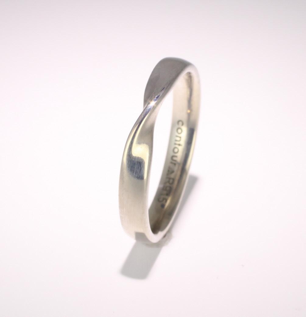 Shaped Wedding Ring Width 3mm (PR915) Platinum