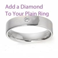 Palladium Wedding Rings Flat Court Heavy - 6mm