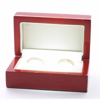 9ct Yellow Gold Wedding Rings D Shape Heavy - 3mm