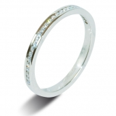 9ct White 0.15ct Brilliant HSI Diamond Eternity Ring - 2.0mm Band - Fast Delivery