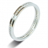 9ct White Gold 0.25ct Brilliant HSI Diamond Full Eternity Ring -2mm Band - Fast Delivery